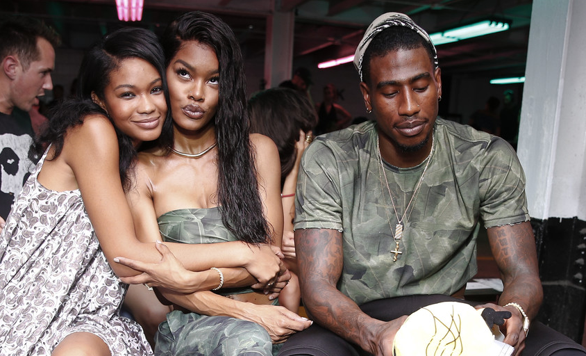 Chanel Iman, Teyana Taylor + Iman Shumpert at the Baja East Spring 2017 Fashion Show in NYC.