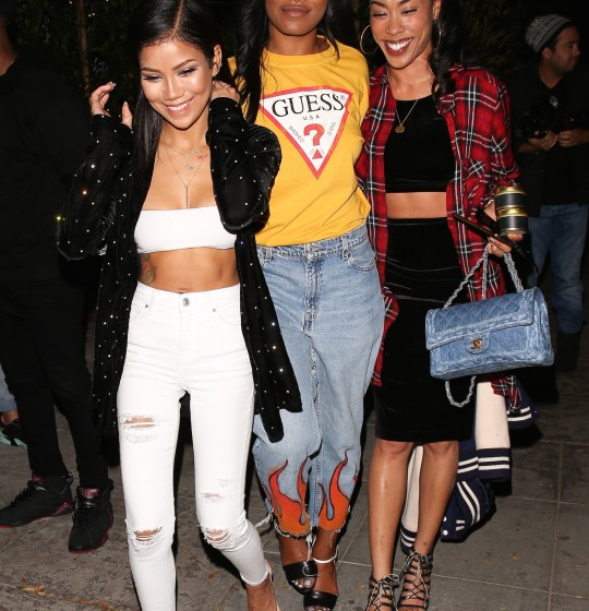 West Hollywood, CA - 'Scream Queen' actress Keke Palmer joined singer Jhené Aiko for a girl's night out at new dinner hotspot, Delilah in WeHo.  AKM-GSI      December 7, 2016  To License These Photos, Please Contact :  Maria Buda (917) 242-1505 mbuda@akmgsi.com sales@akmgsi.com  or   Mark Satter (317) 691-9592 msatter@akmgsi.com sales@akmgsi.com www.akmgsi.com